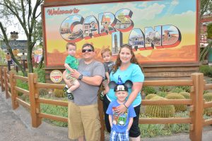 Disneyland With Kids Admin Becca at Cars Land
