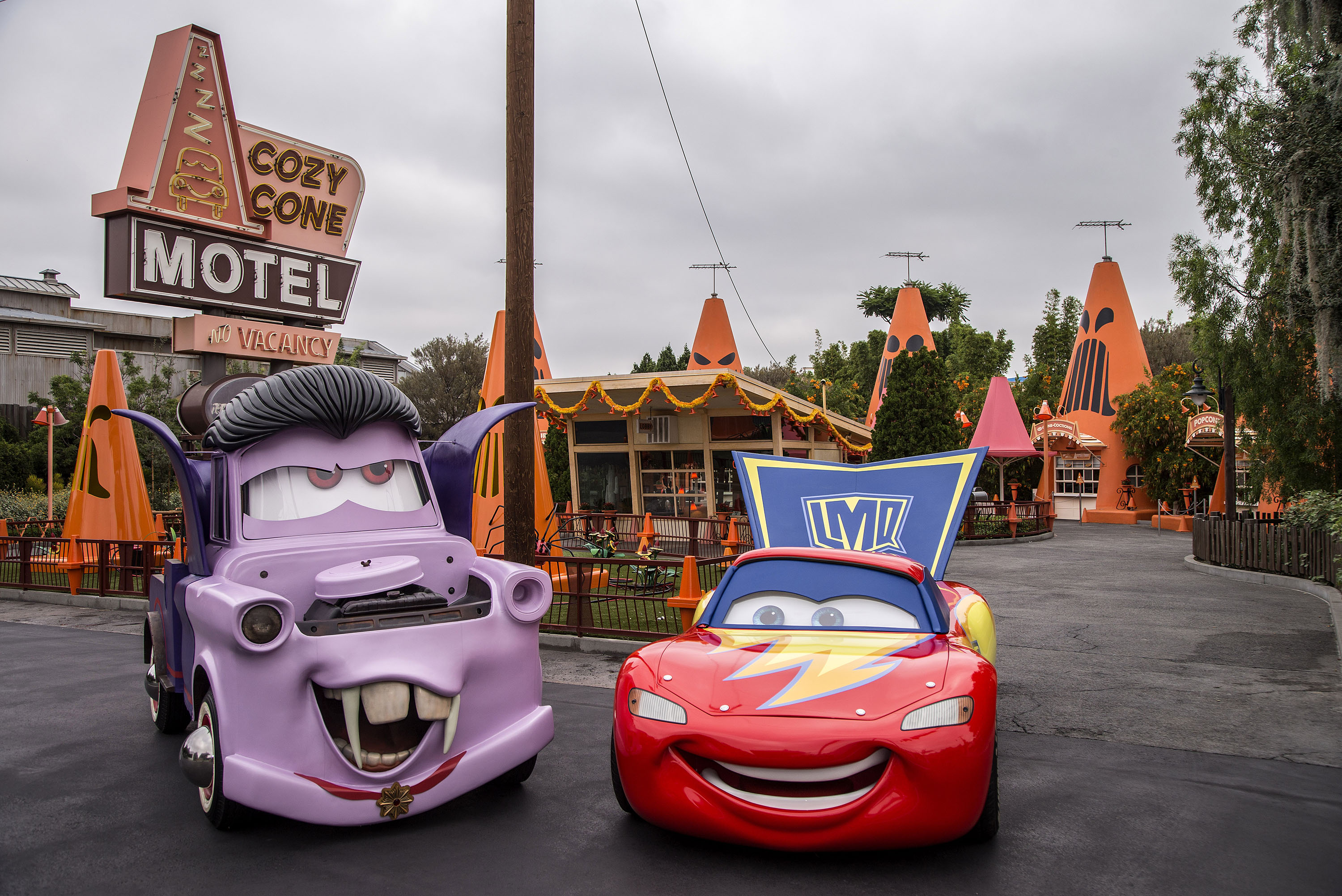 Disneyland at Halloween cars land