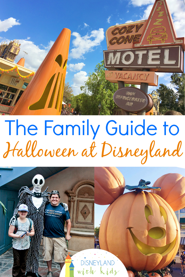 A family and kid friendly guide to Disneyland at Halloween time. Includes party dates and more. #Disneyland #Halloween #Travelwithkids #DisneylandWithKids #CaliforniaAdventure #California