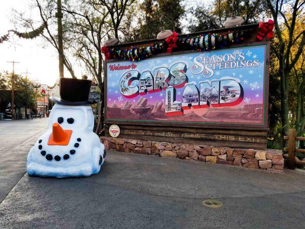 Christmas at Disneyland Resort in Cars Land