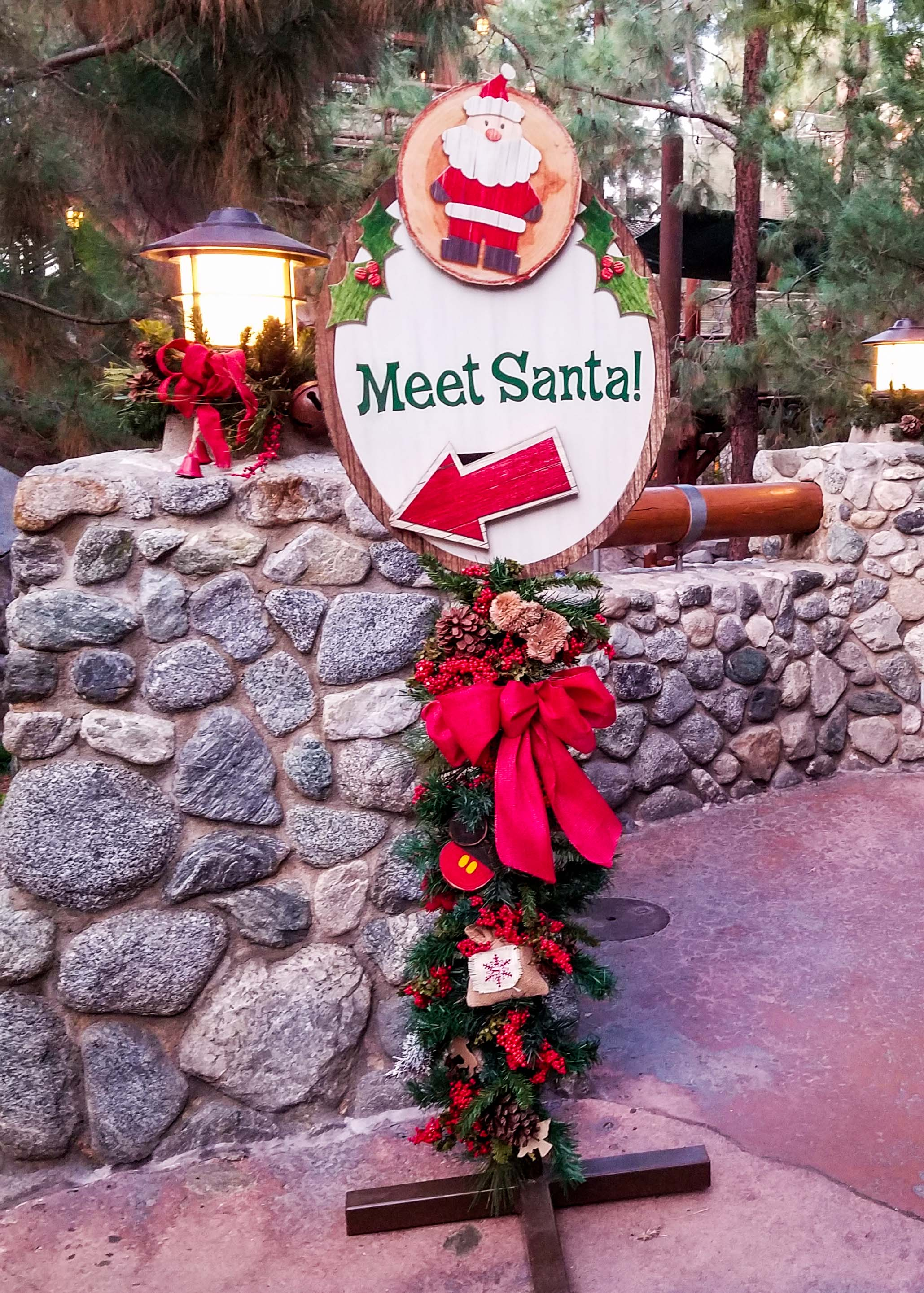 Meet Santa at Christmas at Disneyland