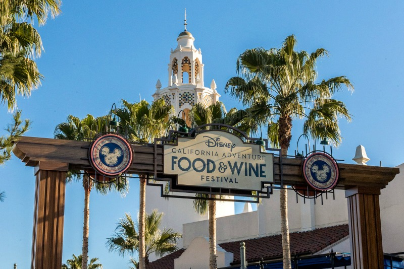 Disney California Adventure Food and Wine Sign